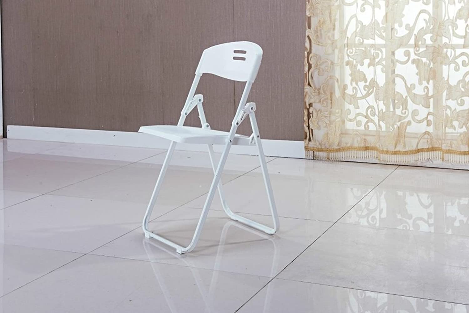 Folding Chair Folding Chairs Conference Chairs Folding Office Chairs Backrest Folding Chairs Household Student Computer Chairs (color   White)