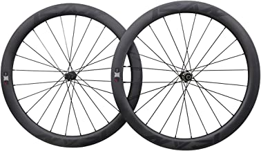 ICAN Carbon Road Bike Disc Wheelset 50mm Clincher Tubeless Ready 25mm 1673g