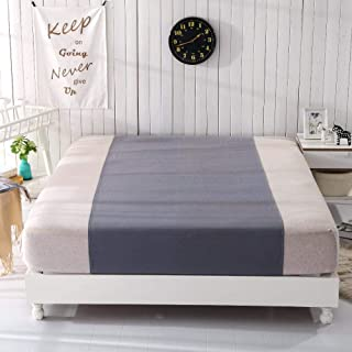 Nouveau Drap Gris Demi-lit (60 x 270cm) Tissu antimicrobien argenté Conducteur de Mise à la Terre Coton et Argent, Gris Nu...