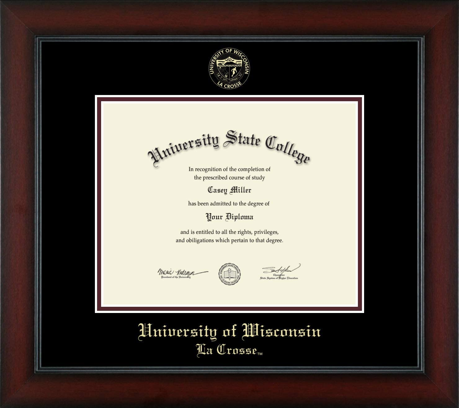 University of Max 86% OFF Wisconsin La Crosse Officially Gold - E Licensed Credence