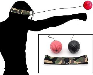 パンチングボール ボクシング ボール 格闘技 打撃練習 フリー戦闘 軽量 練習用ボー 反射神経 動体視力 迅速な対応能力など鍛え (ブラック+レッド) トレーニング