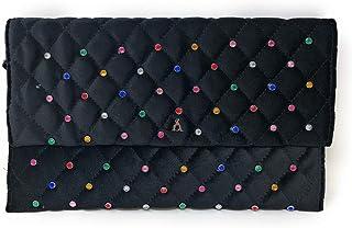 PASHBAG by L'ATELIER DU SAC Tasche aus Samt für Damen glänzend schwarz