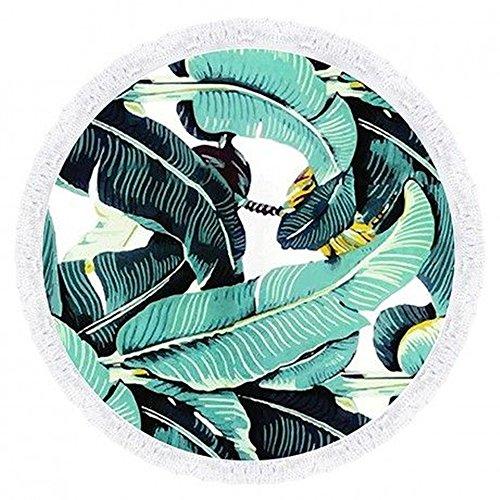 Eizur Mandala Ronde Serviette de plage Tassel Indien Hippie Roundie Tapisserie Bohème Gypsy Plage Serviette Châle Wrap Tapis de pique-nique--Diamètre 150cm