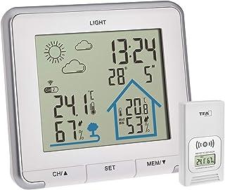 TFA Dostmann Life inalámbrica, estación Digital, Humedad, Temperatura, con iluminación de Fondo, símbolos meteorológicos, ...