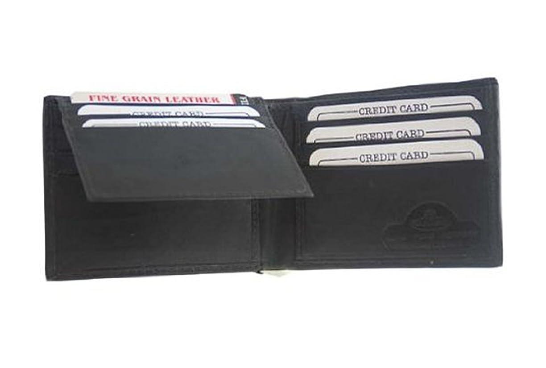 地下エキゾチック倍増Genuineレザー二つ折りメンズ財布W/カードホルダー# 1183