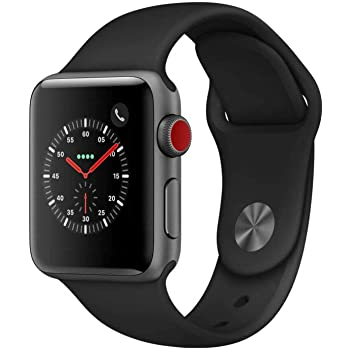 apenas patrocinador enfocar  Amazon.com: Apple Watch Series 3 (GPS + Cellular, 42MM) - Space Gray  Aluminum Case with Black Sport Band (Renewed)