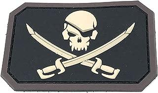 Pirate Skull Flag Morale Patch - PVC (BLACK (SWAT))