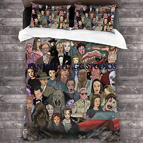 Stephen King - Set di biancheria da letto in poliestere super morbido, 200 x 170 cm, 3 pezzi
