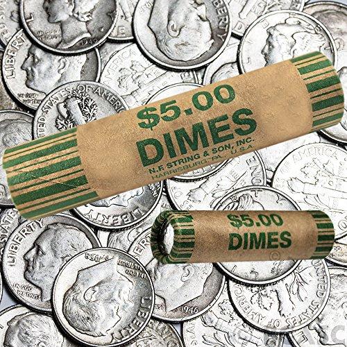 72 Rolls Preformed Coins Dimes Wrappers Paper Tubes 10 Cent Shotgun...