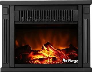 e-Flame USA Fairbanks Free Standing Space Heater Fireplace (Black)
