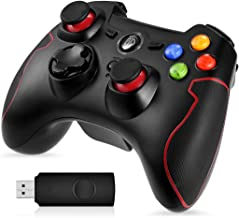 EasySMX Gamepad para PC, [ES Stock, Envio Rápido] Mando Inalámbrico PS3 Gamepad Wireless Compatible con Windows XP y Vista, Windows 7/8 /8.1/10, PS3, Android y Operación Rango hasta 10M