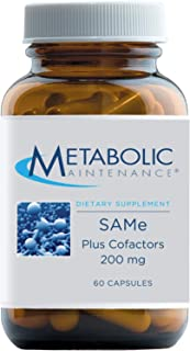 Metabolic Maintenance Same Plus Cofactors - 200mg S-Adenosyl Methionine SAM-e Supplement with Magnesium, Folate, B6, B12 -...