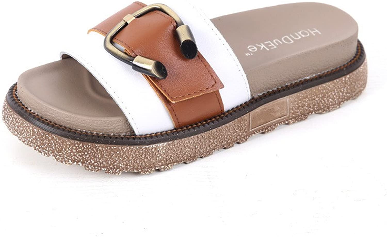 F1rst Rate Women's Fashion Sandals Platform Flat Anti-Slip Summer Breathable Slipper