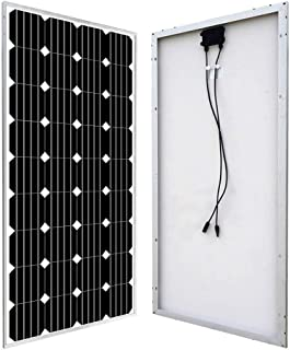 ECO-WORTHY 160W 12V Solar Panel High Efficiency Monocrystalline Solar Panel Off Gird PV Power for RV,Caravan,Boat,Home Off Grid