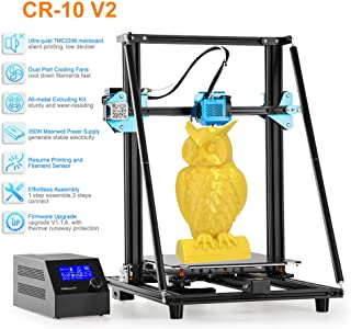 Creality CR-10 V2 3D Printer 7 Disruptive Upgrades with BL Auto-Leveling,Near/Far-end Feeding,Inudstrial Grade Mute System,Two-Way Sphenoid Heat Dissipation,All Metal Extruding,MW Power,300×300×400MM