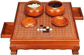 Luckyw Schackbrädesset vuxen exklusiv klassisk massivt trä inbyggd låda
