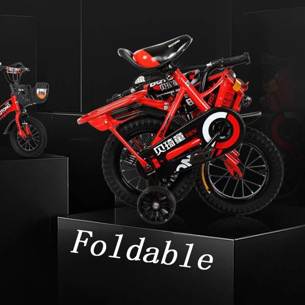 """K-G Bicicleta Infantil Plegable for niños Formación de Bicicletas en tamaño 12"""" 14"""" 16"""" 18"""" Ajustable de Acero de la Bici del niño con el Asiento de atrás for 2-12 Años de"""