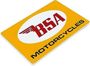 Tinworld TIN Sign C259 BSA Motorcycles Retro Garage Auto Shop Store Sign