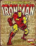 Desperate Enterprises Marvel Comics Iron Man Retro Panels Tin Sign, 12.5' W x 16' H