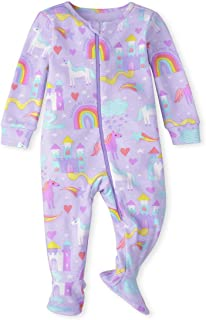 The Children's Place baby-girls Baby And Toddler Girls Magical Unicorn Snug Fit Cotton One Piece Pajamas Baby and Toddler ...