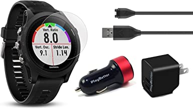 Garmin Forerunner 935 (Black) Power Bundle | Includes Running GPS Watch, HD Screen Protector Film (x4), PlayBetter USB Wall/Car Charging Adapters | Multi-Sport GPS, Advanced Metrics, Wrist Heart Rate