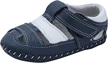 Baby Boys Girls Genuine Leather Soft Bottom Sandals First Walkers Shoes