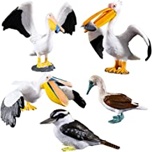 HOMNIVE 5pcs Bird Figures - Realistic Birds Animal Figurines Toy Set - Includes Ostrich, Kingfisher, Pelican - Educational Learning Toys Birthday Gift Set for Boys Girls Kids Toddlers