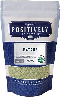 Positively Tea Company, Organic Japanese Matcha, Green Tea, Ceremonial Grade Powder, USDA Organic, 4 Ounce Bag