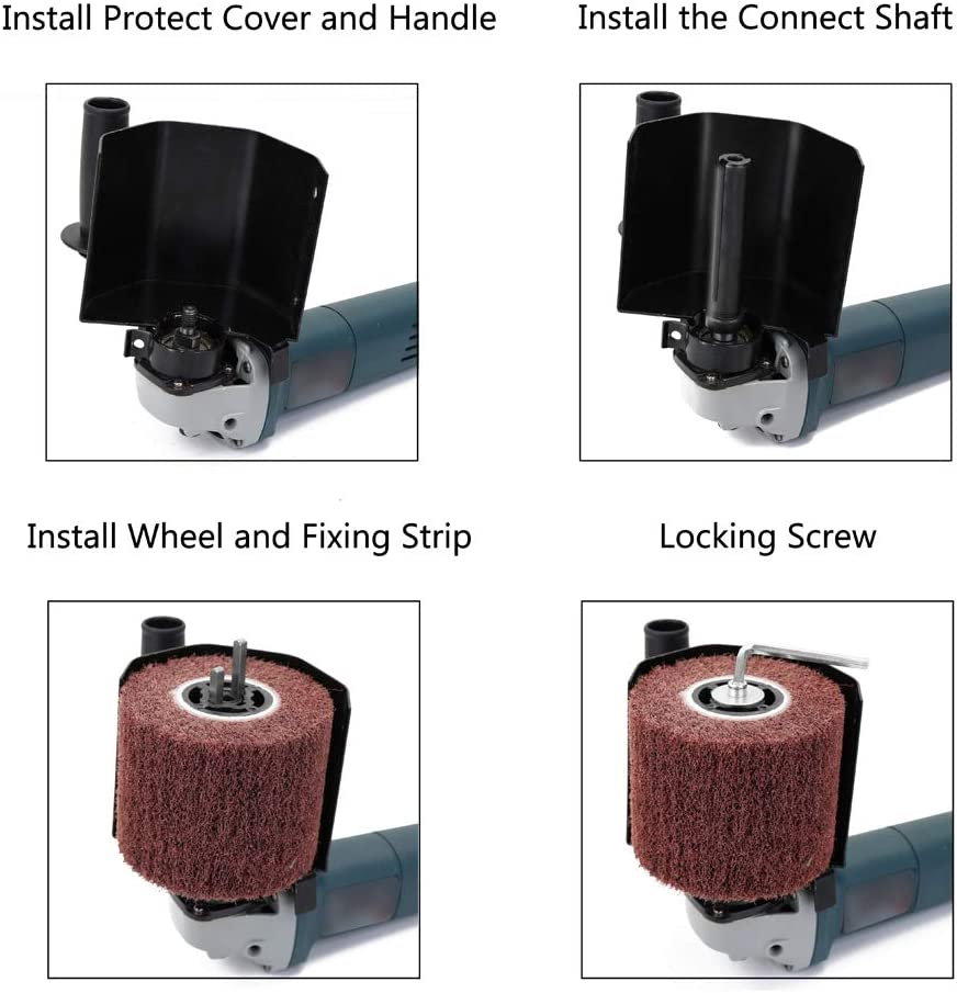 Eje de Conexi/ón M10//M14 Cubierta Protectora KKmoon Accesorio de M/áquina de Pulido,Accesorio de Amoladora Angular