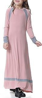 子供の女の子のイスラム教徒のドレスロングスリーブアラブの服 S-XXXL