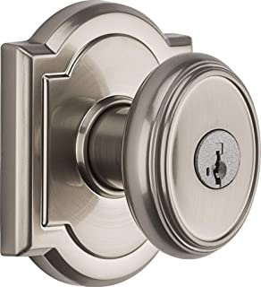 Baldwin Prestige Carnaby Entry Knob featuring SmartKey in Satin Nickel