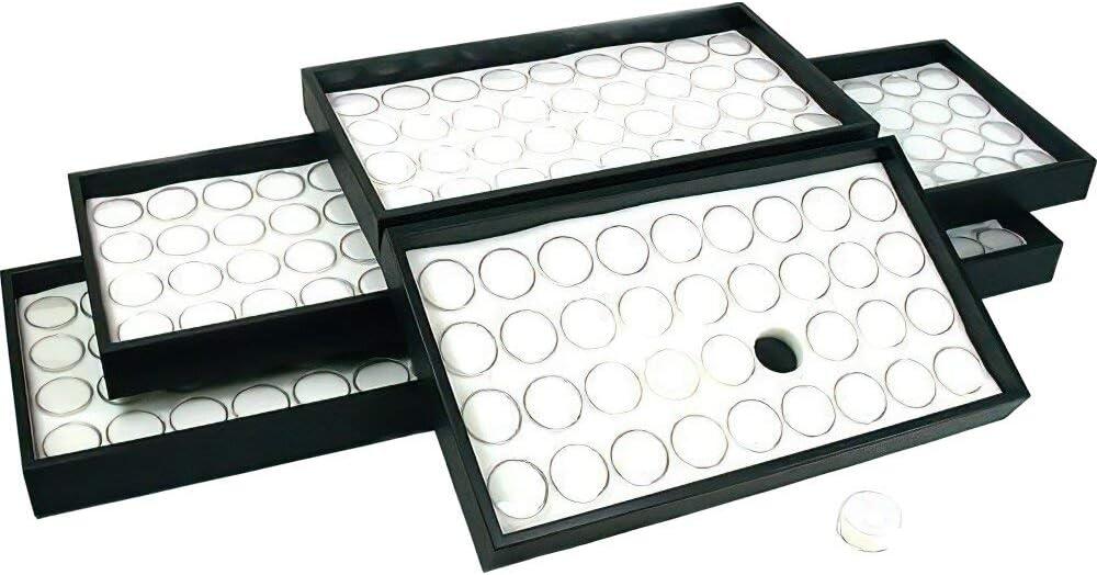 6-36 White Gem Ranking TOP1 Jar Inventory cleanup selling sale Display Insert Gemstone Tray Jewelry