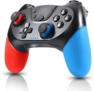 Switch コントローラー スイッチコントローラー ワイヤレス 無線 HD振動 小型6軸ジャイロセンサー搭載 スイッチコントローラーDUAL二重振動機能TURBO連射機能付き 小型コントローラー Bluetooth接続 任天堂 スイッチシステムに対応 任天堂 Nintendo Switch 対応