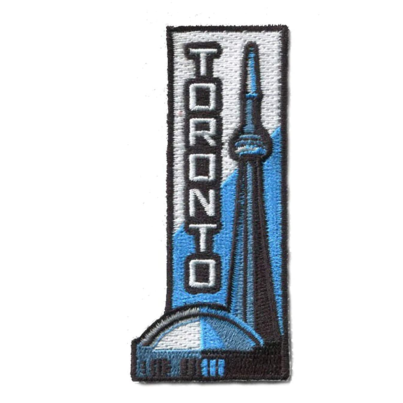 Toronto Patch/Sky Dome CN Tower Iron On Travel Patch/Great Gift or Souvenir for Backpack Travellers