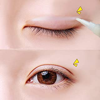 Double Eyelid Adhesive Glue-Clear Type, Medical Grade Latex Free Hypoallergenic, Perfect for Hooded, Droopy, Uneven, Mono-eyelids