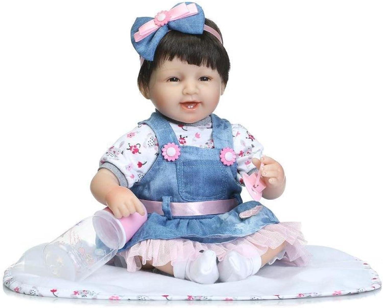 JHGFRT Reborn Babypuppe Weiche Silikonsimulationskinder Für Frühkindliche Bildung Von Puppen Können Gliedmaßen Abnehmbare Schnuller Und Wasserkocher Sitzen Oder Kippen,40cm B07FFSBJR6 Stil  | Hohe Sicherheit