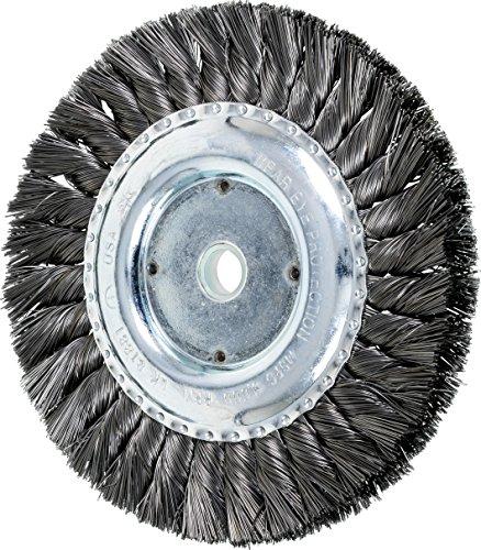 PFERD 81881 Single Row Power Knot Wire Wheel Brush with Standard Twist, Round Hole, Carbon Steel Bristles, 6