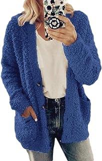 Top da Donna Gilet Senza Maniche Lungo Cardigan a Cascata Aperto Senza Maniche Donna KINLOU Cardigan da Donna