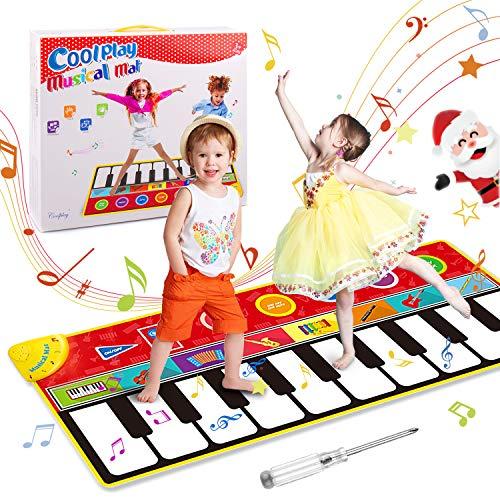 OMEW Tapis de Piano 148*60 CM Tapis de Musique Bébé, Tapis de Danse Musicale 8 Sons d'Instruments 5 Modes de Jeu, Tapis de Jeu Musical Instrument