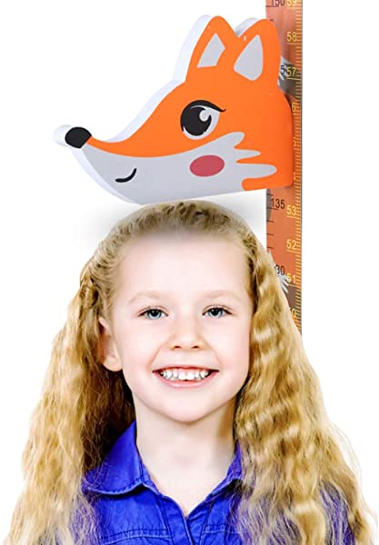Zoolandor Height Growth Chart For Kids Fox Wall Decor
