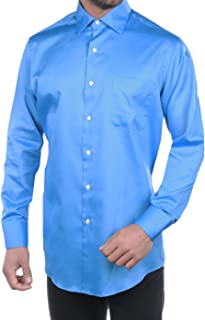 Men's Cutaway Cuff Fitted Sateen Solid Dress Shirt