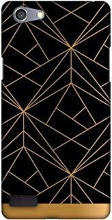 Oppo Neo 7 Case, Premium Handcrafted Designer Hard Shell Snap On Case Shockproof Printed Back Cover for Oppo Neo 7 - Golden Elegance 2