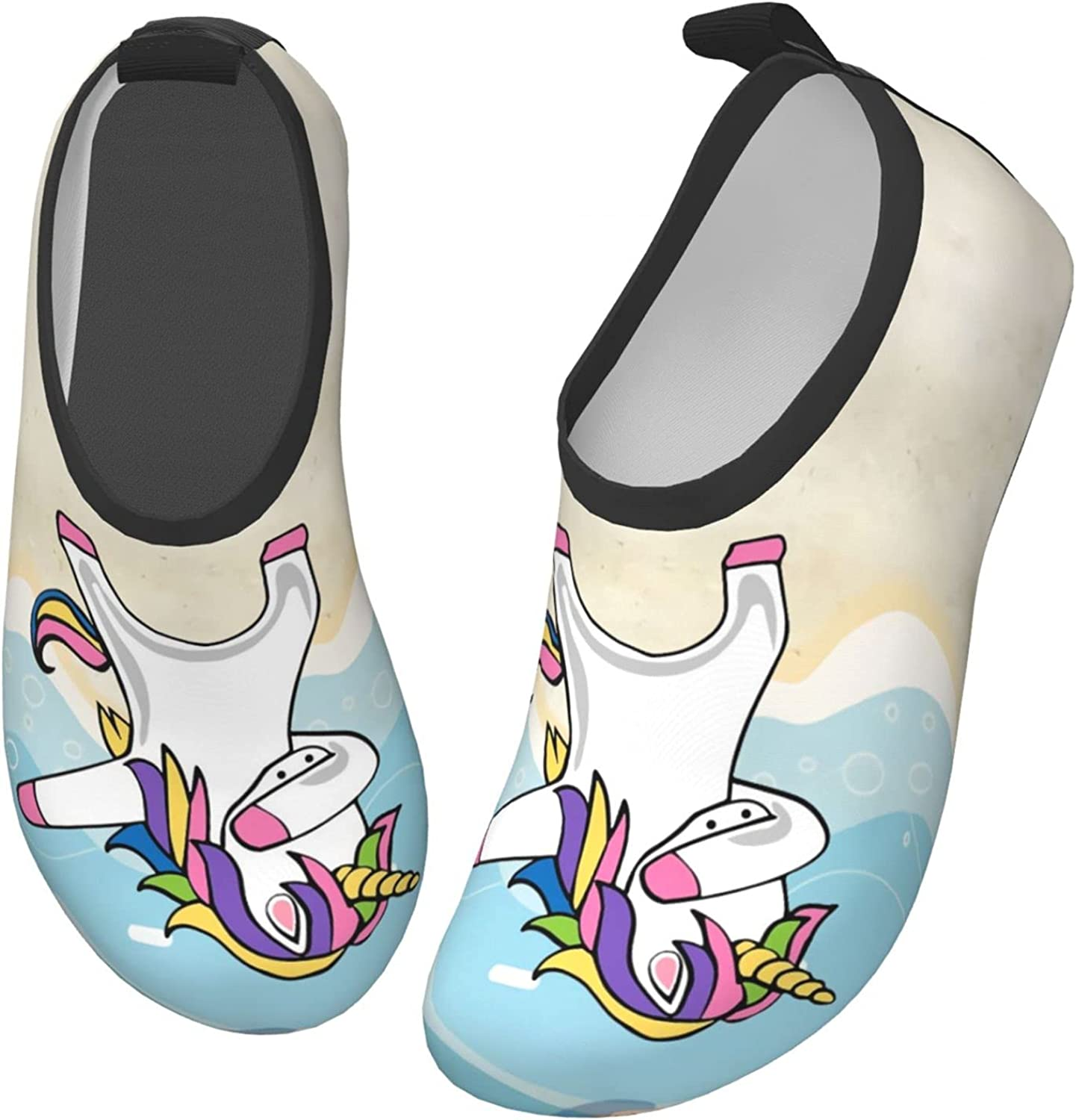 Water Shoes for Kids Boys Girls, Barefoot Quick-Dry Aqua Shoes for Beach Swim Surf Dance Exercise.(Unicorn)
