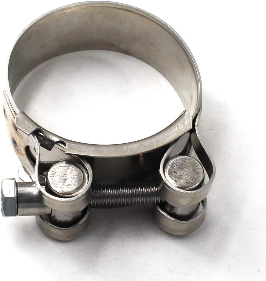 Pack of 2 131-139mm T-Bolt Clamp 304 Stainless Steel Pipe Clamp Heavy Duty Hose Clamp