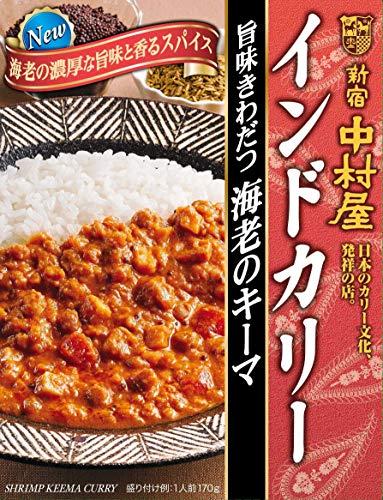新宿中村屋 インドカリー旨味きわだつ海老のキーマ 170g ×5箱