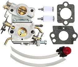 Harbot C1M-W26 Carburetor with Primer Bulb Fuel Line Filter for Poulan P3314 P3314WS P3314WSA P3416 P3516 P3516PR P4018WM P4018WT PP4218 PPB4018 Craftsman Chainsaw 545070601