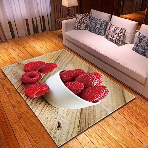 NLADTWLSD Tapis de Salon Prune Rouge Tapis Poils Ras Moderne Antidérapant Lavable Tapis pour Cuisine Bureau Chambre à Coucher Dimension: 180x280 cm