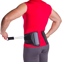 Spine Sport Back Brace - Best Active Lumbar Support for Athletic Use, Exercise, Walking, Working Outside, Walking, Driving, Golf, Fishing, Nurses, and Police (XL)