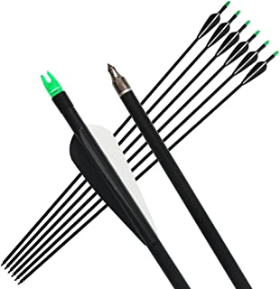 "12PCS Fiberglass Arrow 31/"" Archery Fletched Arrows Nock For 30-80lbs Recurve Bow"