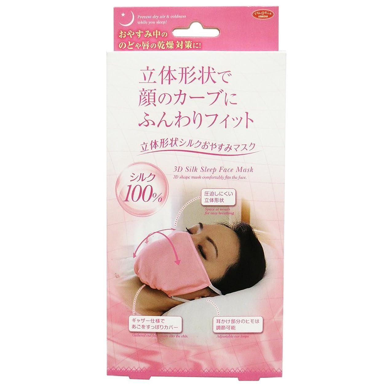 うなずく補う誰がアイメディア 立体形状シルクおやすみマスク